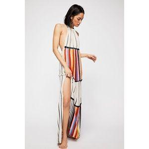 Free People Madrid Gras boho maxi knit dress s